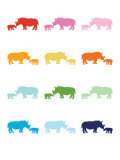 Rainbow Rhinos