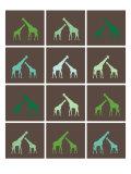 Green Giraffe Squares