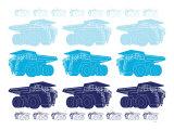 Blue Dump Trucks