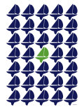 Navy Green Regatta
