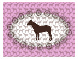 Pink Horse Belt Buckle