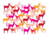 Warm Deer Pattern
