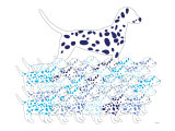 Blue Dalmation Pattern