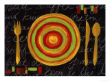 Striped Plate- Yellow