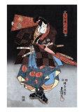 Japanese Wood-Cut Print  Actor in the Role of Saitogo Kunitake  no2