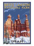 Bryce National Park  Utah  Winter Scene