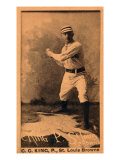 St Louis  MO  St Louis Browns  Silver King  Baseball Card
