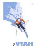 Utah  Skier Stylized