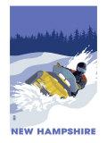 New Hampshire  Snowmobile Scene