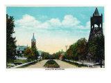 Peoria  Illinois  Scenic View down Hamilton Boulevard