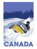 Canada  Snowmobile Scene