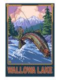 Wallowa Lake  Oregon  Angler Fisherman