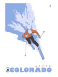 Aspen  Colorado  Stylized Skier