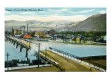 Missoula  Montana  Aerial View of the Higgins Avenue Bridge