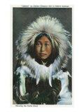 Alaska  View of Obleka  an Eskimo Native Girl in Costume