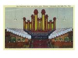 Salt Lake City  Utah  Interior View of the Mormon Tabernacle Choir and Organ