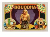 Bouddha Brand Cigar Inner Box Label  Misspelling of Buddha