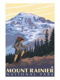 Mount Rainier  Hiker
