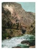 Ogden Canyon  Utah  View of the First Bridge