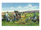 New Mexico  Cowboys at the Chuck Wagon on the Roundup