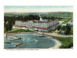New London  Connecticut  Aerial View of the Eastern Point of the Griswold Hotel