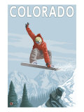 Colorado  Snowboarder Jumping