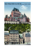 Quebec  Canada  Exterior View of the Chateau Frontenac from Lower Town