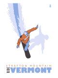 Stratton Mountain  Vermont  Stylized Snowboarder