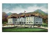Rocky Mountain National Park  Colorado  Exterior View of the Stanley Hotel  Estes Park