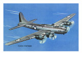 View of the Boeing B-17 Flying Fortress Plane