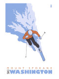 Mount Spokane  Washington  Stylized Skier