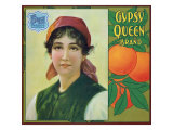 Riverside  California  Gypsy Queen Brand Citrus Label