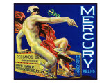 Redlands  California  Mercury Brand Citrus Label