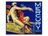 Redlands  California  Mercury Brand Citrus Label