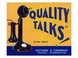 Yakima  Washington  Quality Talks Brand Apple Label