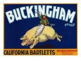 Vacaville  California  Buckingham Brand Pear Label