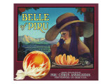 Piru  California  Belle of Piru Brand Citrus Label