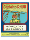 Monopole de Cazanove Captain's Rhum Brand Rum Label