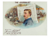 The Journalist Brand Cigar Box Label