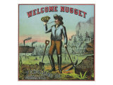 Virginia  Welcome Nugget Brand Tobacco Label