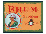Rhum Superieur Brand Rum Label