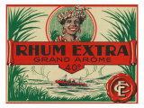 Rhum Extra Grand Arome Brand Rum Label