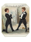 Vaudeville Sports Brand Cigar Box Label