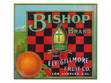 Los Angeles  California  Bishop Brand Citrus Label