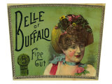 Belle of Buffalo Brand Tobacco Label
