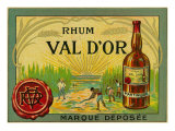 Rhum Val d'Or Martinique Brand Rum Label