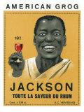 American Grog  Jackson Brand Rum Label