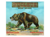 North Ontario  California  Nucleus Bear Brand Citrus Label
