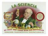 La Sciencia Brand Cigar Box Label