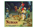 Los Angeles  California  Nubian Brand Citrus Label